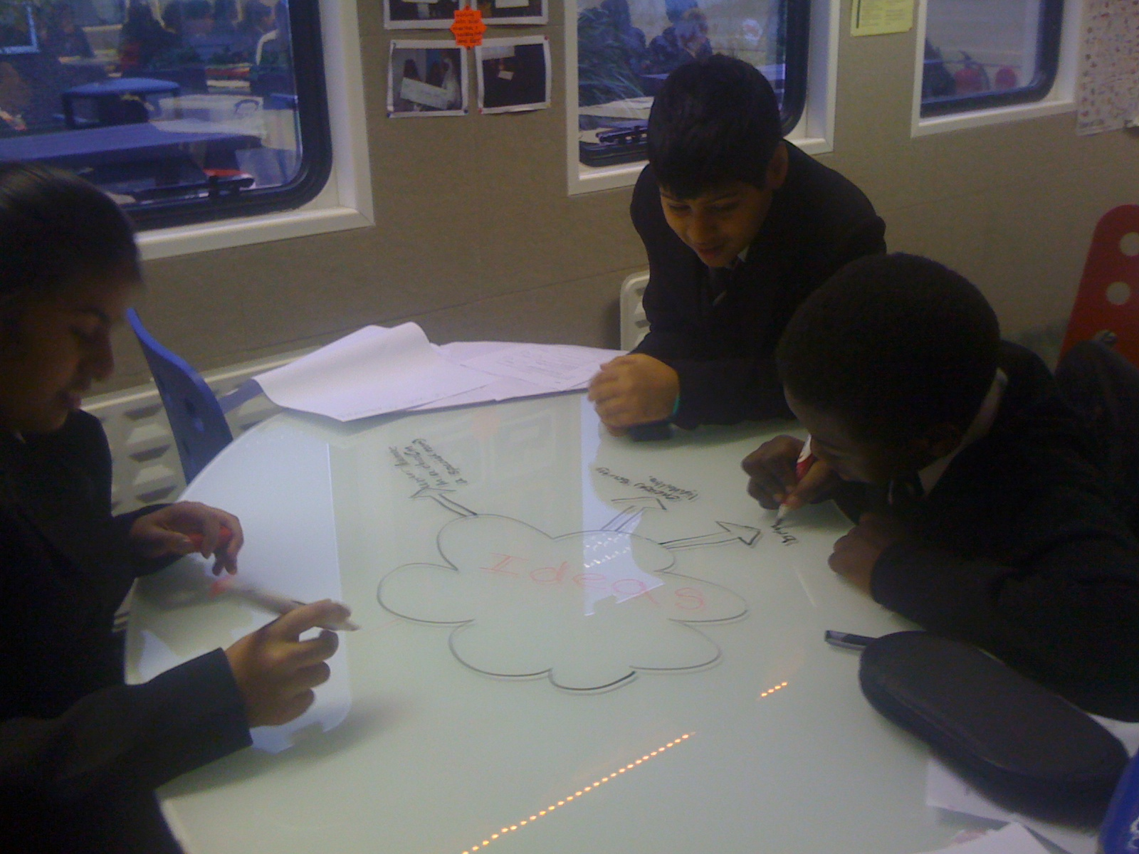 writing on surfaces in learning spaces